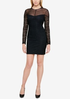Guess Lace Illusion Bodycon Dress