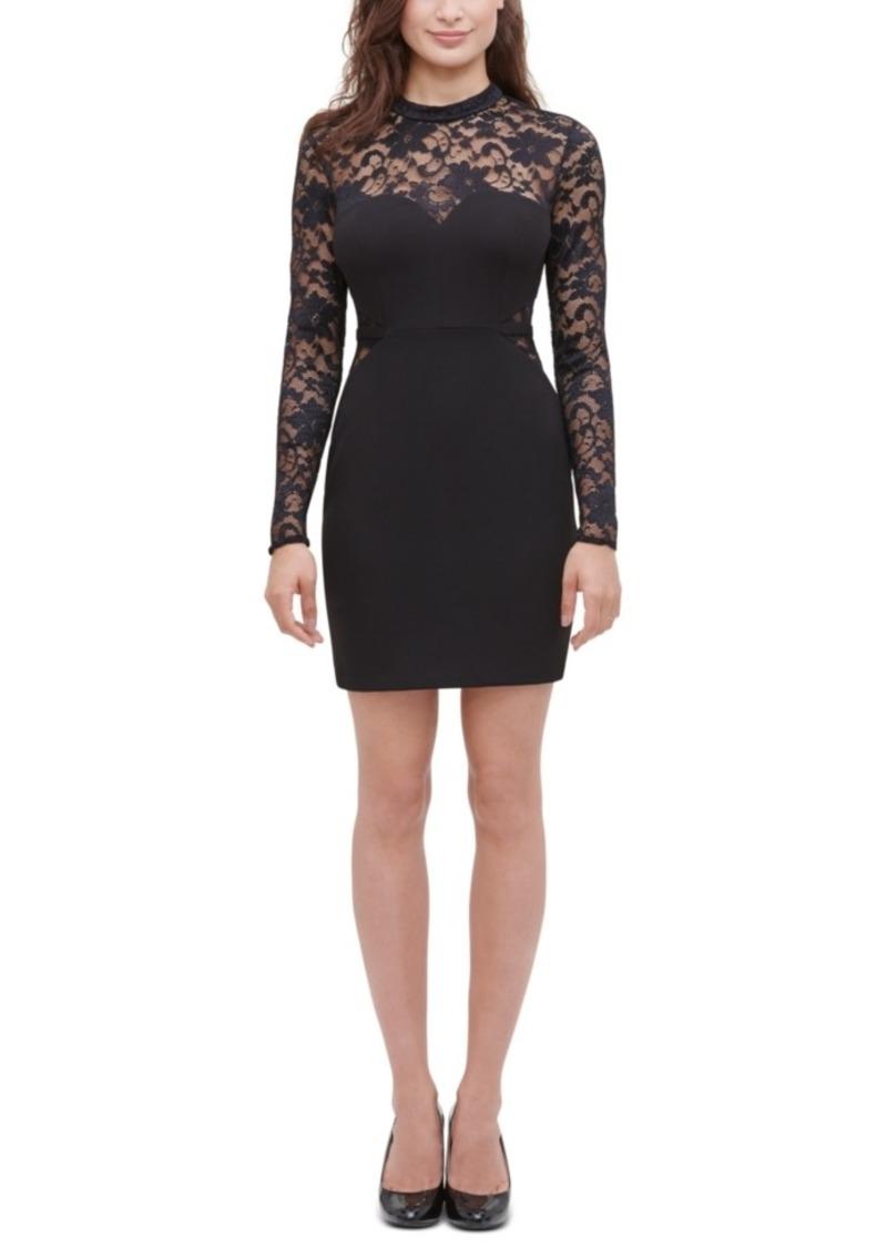 Guess Lace Illusion Sheath Dress