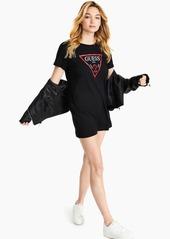 Guess Lace Logo Tunic T-Shirt