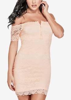 Guess Lace Off-The-Shoulder Bodycon Dress