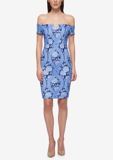 Guess Lace Off-The-Shoulder Dress