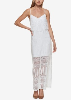 Guess Lace Popover Maxi Dress