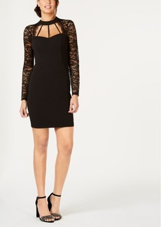 Guess Lace-Sleeve Bodycon Dress