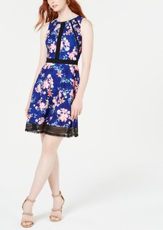 Guess Lace-Trim A-Line Dress, Created for Macy's