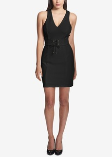 Guess Lace-Up Corset Sheath Dress