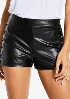 Guess Lace-Up Faux-Leather Shorts