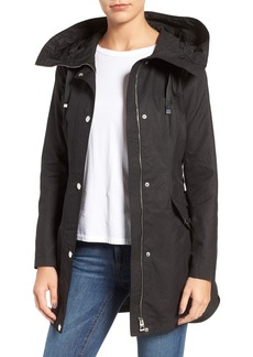 GUESS Lace-Up Hooded Utility Coat