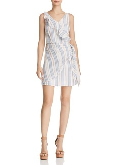 GUESS Laguna Metallic Striped Dress