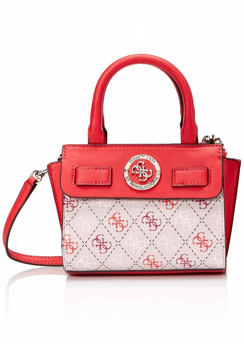 GUESS Landon Multi Micro Mini Satchel Blush
