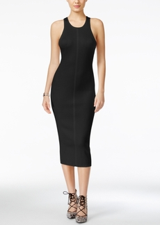 Guess Lane Ribbed-Contrast Midi Sweater Dress
