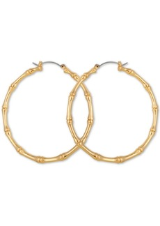 Guess Large Bamboo Hoop Earrings 2-1/4""