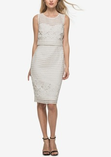 Guess Lattice Lace Popover Sheath Dress