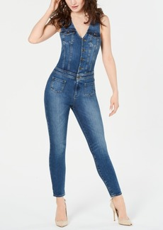 Guess Layla Sleeveless Denim Jumpsuit