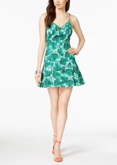 Guess Leaf-Print Skater Dress