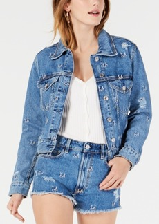 Guess Leda Ripped Denim Jacket