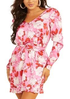 Guess Leena Belted Floral-Print Dress