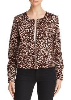 GUESS Leopard Print Bomber Jacket