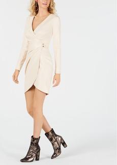 Guess Lexie Faux-Wrap Faux-Leather Dress