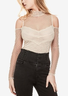 Guess Lily Cold-Shoulder Lace Top