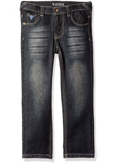 GUESS Little Boys' 5 Pocket Knit Stretch Jeans
