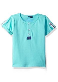 Guess Boys' Little Short Sleeve 3 Button T-Shirt