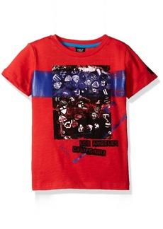 GUESS Boys' Little Short Sleeve Guitar Pic Graphic Tee Shirt