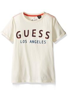 GUESS Little Boys' Short Sleeve Logo T-Shirt