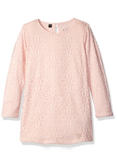 GUESS Little Girls' 3/ Sleeve Lace Dress