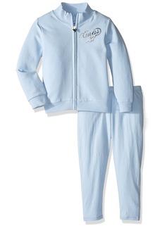 GUESS Girls' Little Cotton Stretch Fleece Zip Jacket and Legging Set