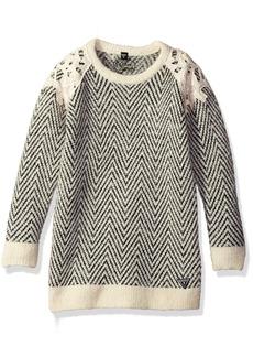 GUESS Little Girls' Crochet Overlay Sweater Dress