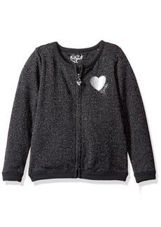 GUESS Little Girls' Glitter Knit Carigan Sweater