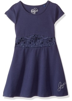GUESS Little Girls' Knit Jersey Fit and Flare Dress  6X/7