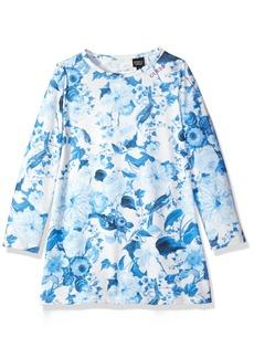 GUESS Girls' Little Long Sleeve Floral Print Dress