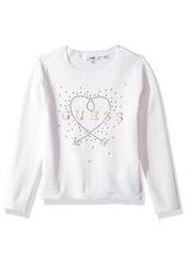 Guess Girls' Little Long Sleeve Heart Sweater