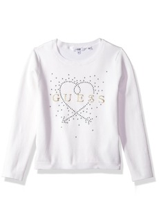 Guess Girls' Little Long Sleeve Heart Sweater