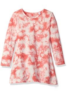 GUESS Little Girls' Long Sleeve Tie Dyed Jersey Dress