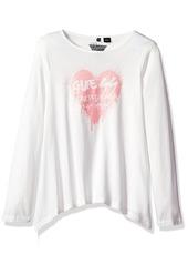 GUESS Little Girls' Long Triangle Sleeve T-Shirt