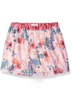GUESS Little Girls' Printed Lace Skater Skirt