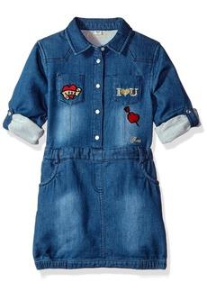 GUESS Little Girls' Roll Patch Sleeve Dress