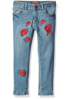 GUESS Girls' Little Rose Skinny Jeans Glamour Blue WASH