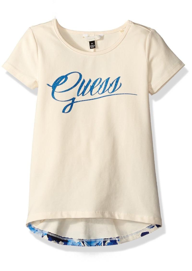 36684ec64 GUESS GUESS Little Girls' Short Sleeve Cotton Jersey Screen Print ...