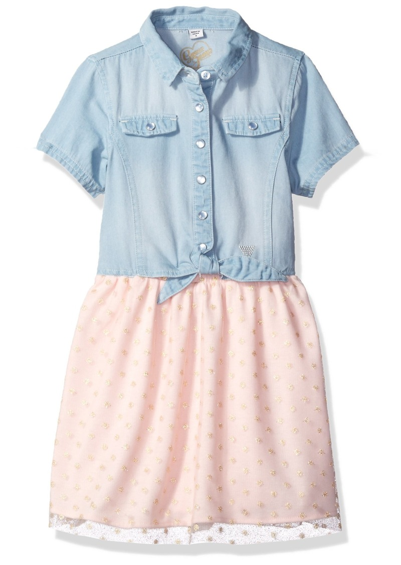 bf6b33989eb On Sale today! GUESS GUESS Little Girls  Short Sleeve Denim and ...