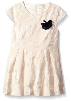 GUESS Girls' Little Short Sleeve Lace Fit N Flare Dress