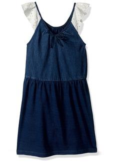 GUESS Girls' Little Sleeveless Denim Dress