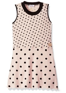 GUESS Little Girls' Sleeveless Dotted Sweater Dress