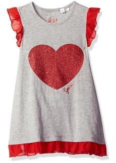 GUESS Little Girls' Sparkle Heart Jersey Dress