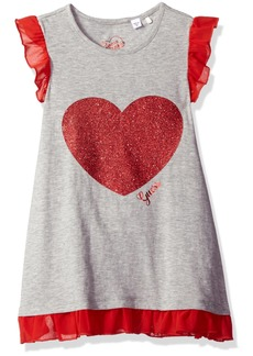 GUESS Little Girls' Sparkle Heart Jersey Dress