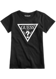 Guess Logo Graphic-Print Cotton T-Shirt, Big Girls