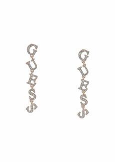 Guess Logo Linear Earrings