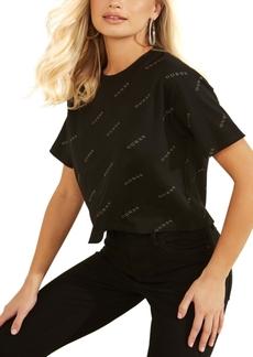 Guess Logo-Print Cotton T-Shirt